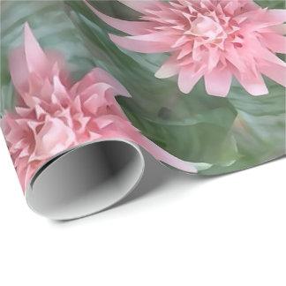Flowering Pink Bromeliad Gift Wrap