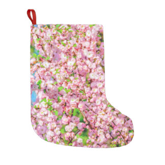 Flowering Plum Small Christmas Stocking