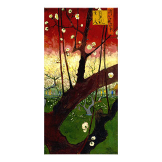 Flowering Plum Tree after Hiroshige by Van Gogh Customized Photo Card