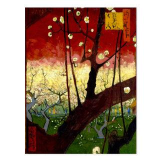 Flowering Plum Tree after Hiroshige by Van Gogh Postcard