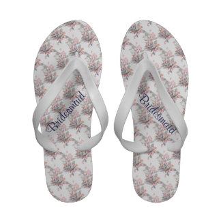 Flowering Quince Design Wedding Flip Flops Sandals
