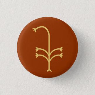 Flowering Sedge 1 Inch Round Button