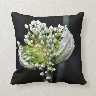 Flowering Spring Onion Throw Pillow