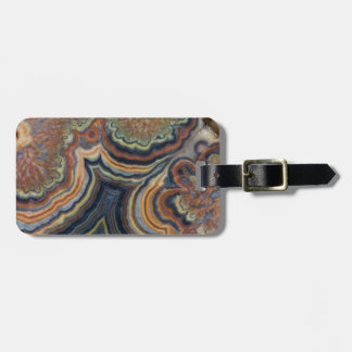 Flowering tube onyx luggage tag