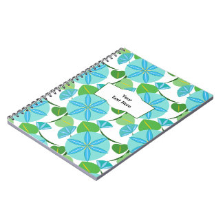 Flowering Vine Abstract Retro Spiral Notebook