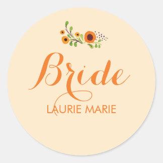 Flowering Vine Bridal Shower Sticker Template
