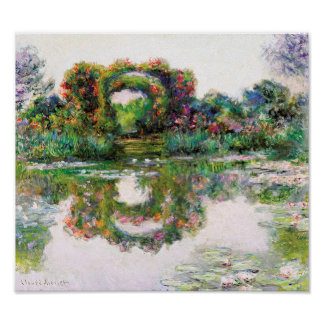FloweringArches Giverny Claude Monet Impressionism Poster