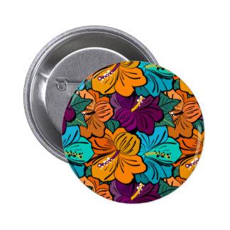 Flowerpower 2 Inch Round Button