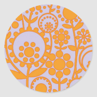 flowerpower 3 classic round sticker