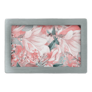 flowers2bflowers and birds pattern #flowers rectangular belt buckle