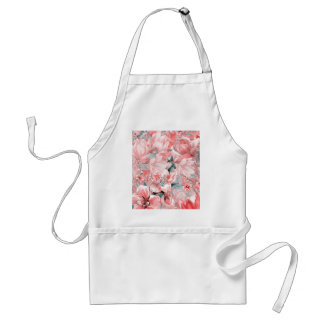 flowers2bflowers and birds pattern #flowers standard apron
