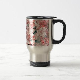 flowers2bflowers and birds pattern #flowers travel mug