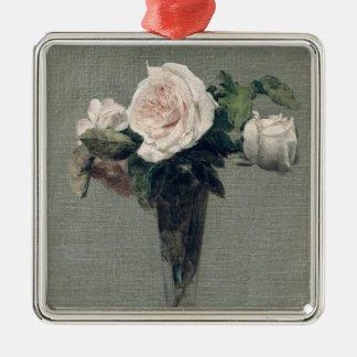 Flowers, 1872 Silver-Colored square ornament