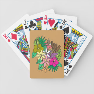 Flowers 2 bicycle playing cards