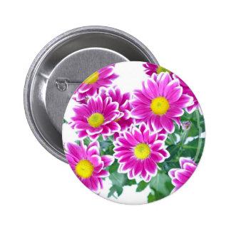 Flowers 2 Inch Round Button