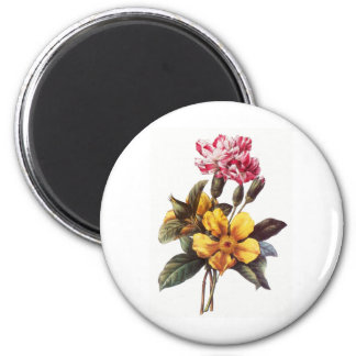 Flowers 2 Inch Round Magnet