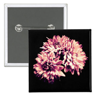 Flowers 2 Inch Square Button