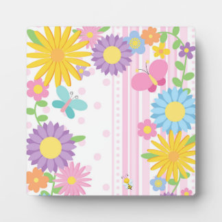 Flowers 5.25 x 5.25 Easel Plaque