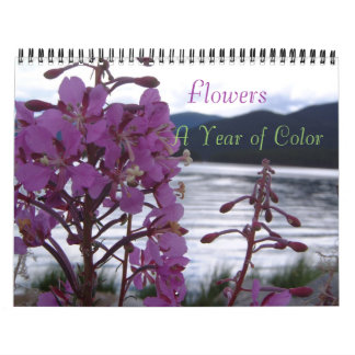 Flowers , A Year of Color Wall Calendar