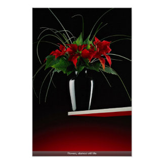 Flowers, abstract still life print