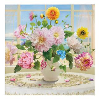 "Flowers Acrylic Wall Art, 12"" x 12"" Acrylic Print"