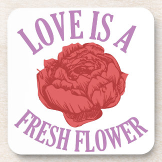Flowers add unique style and cheer to any space. drink coaster