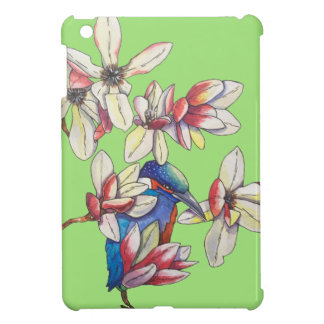 flowers and a bird cover for the iPad mini