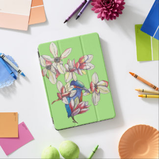 flowers and a bird iPad air cover