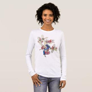 flowers and a bird long sleeve T-Shirt