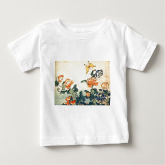 Flowers and a Butterfly Baby T-Shirt