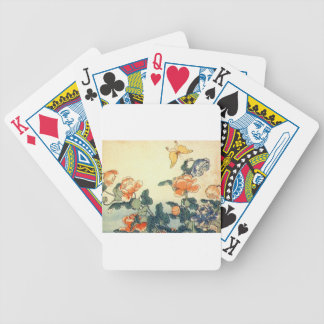 Flowers and a Butterfly Bicycle Playing Cards