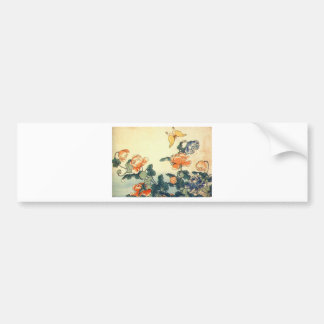 Flowers and a Butterfly Bumper Sticker