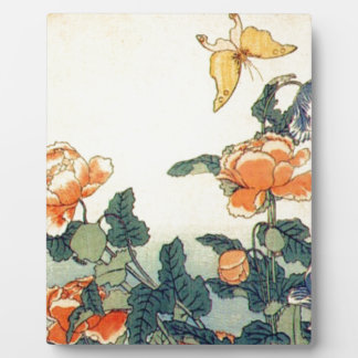 Flowers and a Butterfly Plaque