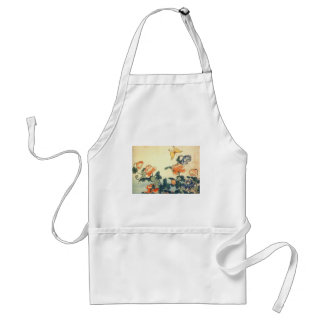 Flowers and a Butterfly Standard Apron
