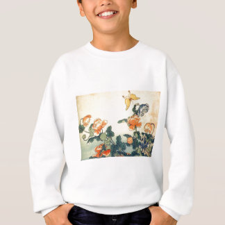 Flowers and a Butterfly Sweatshirt