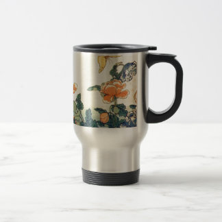 Flowers and a Butterfly Travel Mug