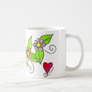 Flowers and a Heart Coffee Mug