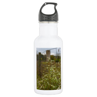 Flowers And A Silo 532 Ml Water Bottle