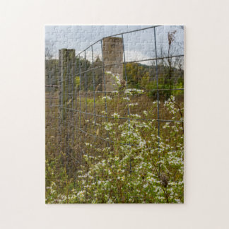 Flowers And A Silo Jigsaw Puzzle