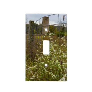 Flowers And A Silo Light Switch Cover