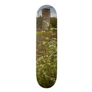 Flowers And A Silo Skateboard Decks
