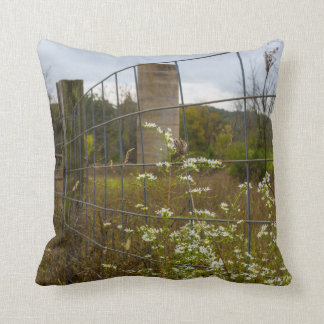 Flowers And A Silo Throw Pillow