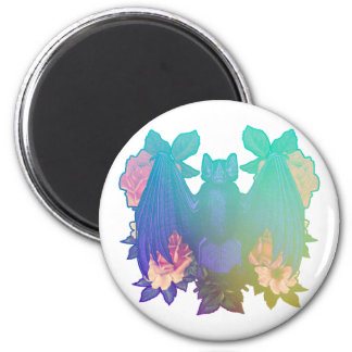 Flowers and bats magnet
