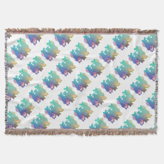 Flowers and bats throw blanket
