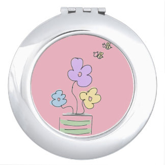 Flowers and Bees Doddle Compact Mirror