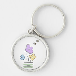 Flowers and Bees Doddle Keychain
