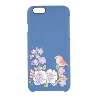 flowers and bird clear iPhone 6/6S case