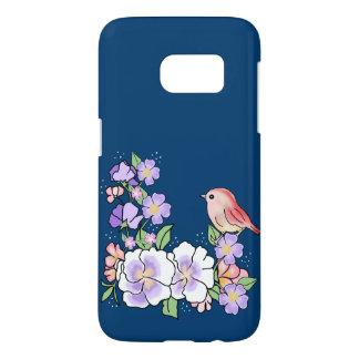 flowers and bird samsung galaxy s7 case