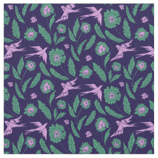 Flowers and birds fabric