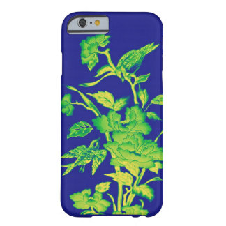 Flowers and Birds,Graphic Design Blue,Yellow,Green Barely There iPhone 6 Case